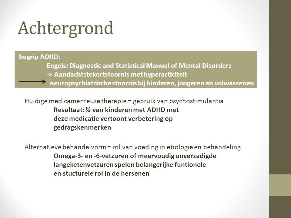 Achtergrond begrip ADHD: Engels: Diagnostic and Statistical Manual of Mental Disorders -> Aandachtstekortstoornis met hyperacticiteit neuropsychiatris