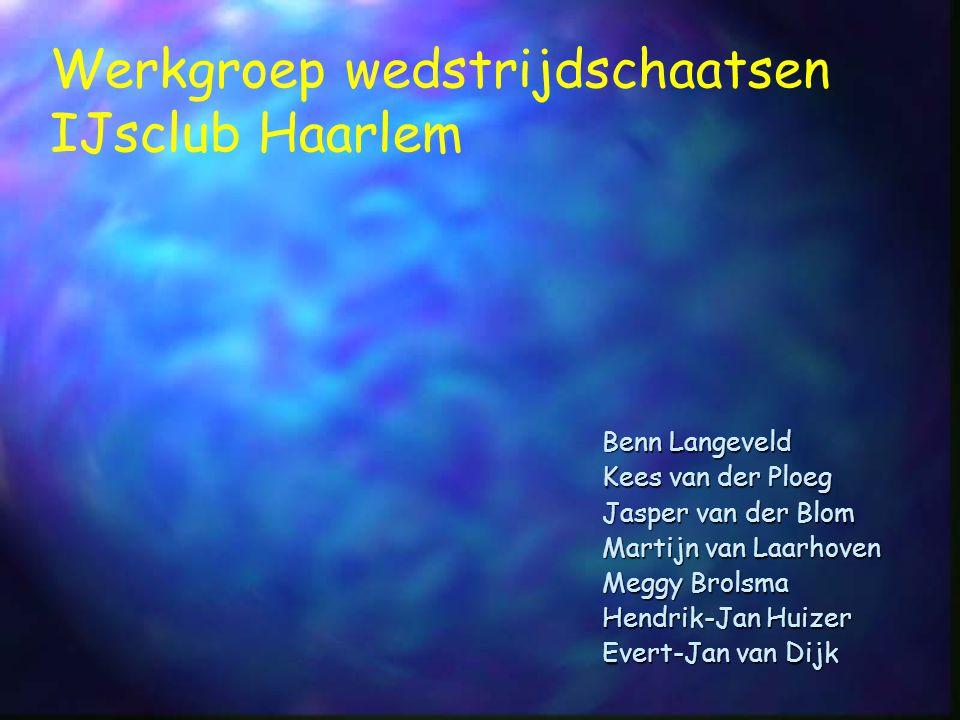 Leg het bestuur een afgerond beleidsplan voor die aangeeft op welke wijze de toekomstige Commissie Wedstrijdzaken op korte termijn kan functioneren Opdracht Bestuur IJsclub Haarlem, 12 november jl.