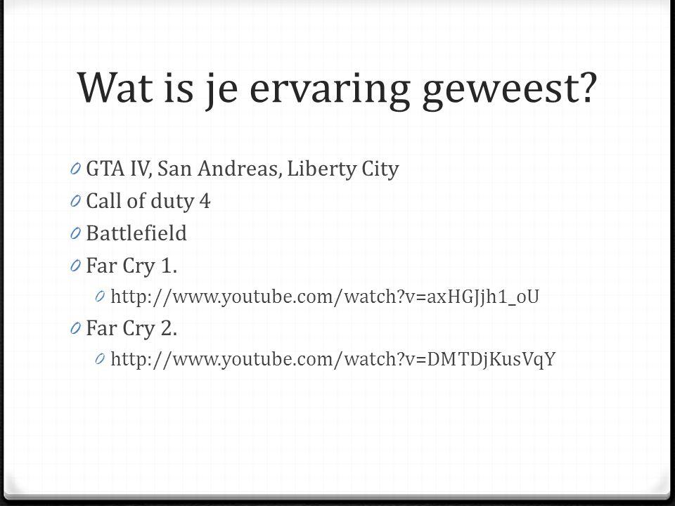 Wat is het verschil 0 Far Cry 2 -> Far Cry 3 0 Verhaal 0 Game Play