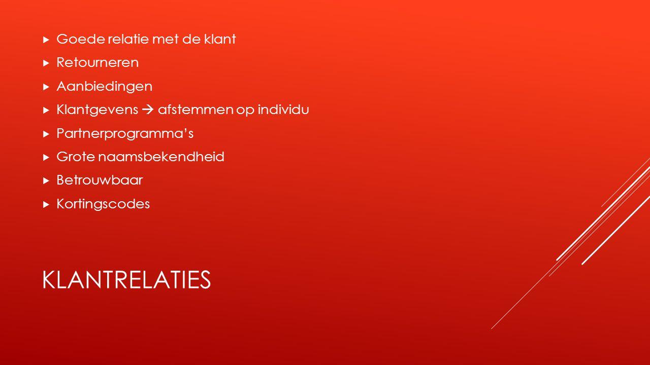 INKOMSTENSTROMEN  Verkopen via eigen website  Transacties via affiliate partners  Tweede hands verkopen