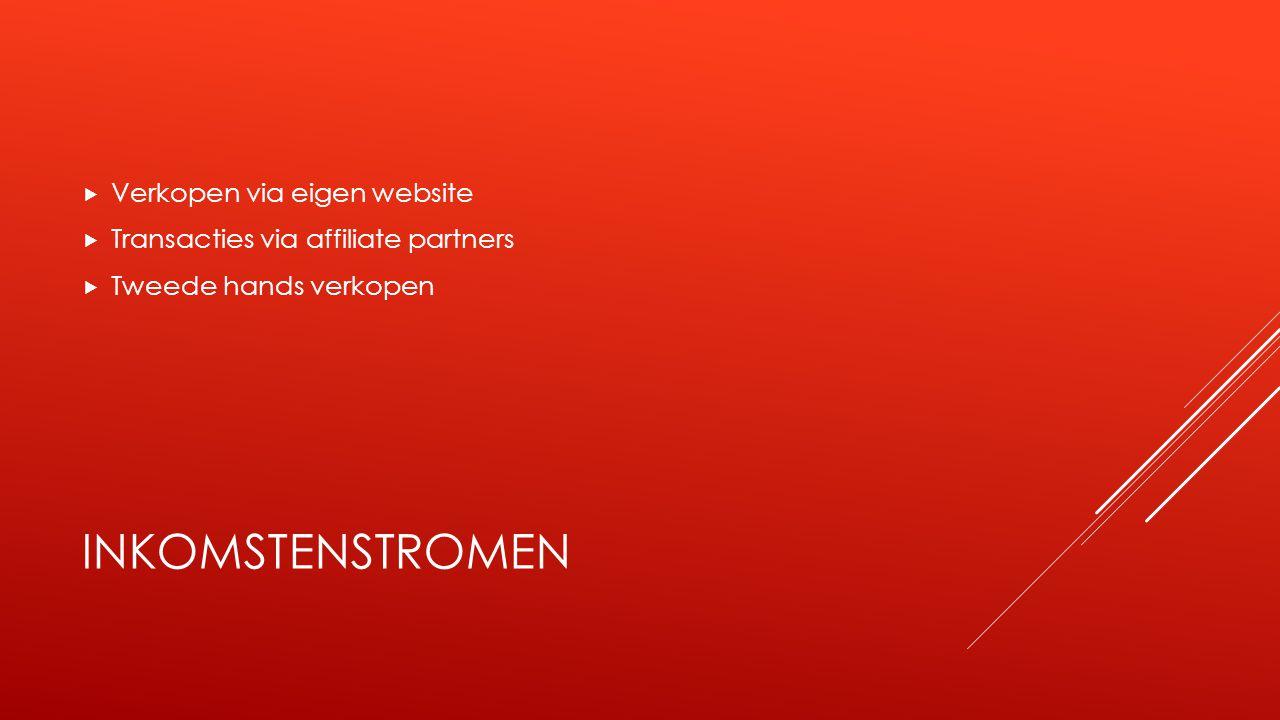 BELANGRIJKSTE BRONNEN  Verkooppunten/website  ICT  Samenwerkingscontract leveranciers  Personeel klantenservice