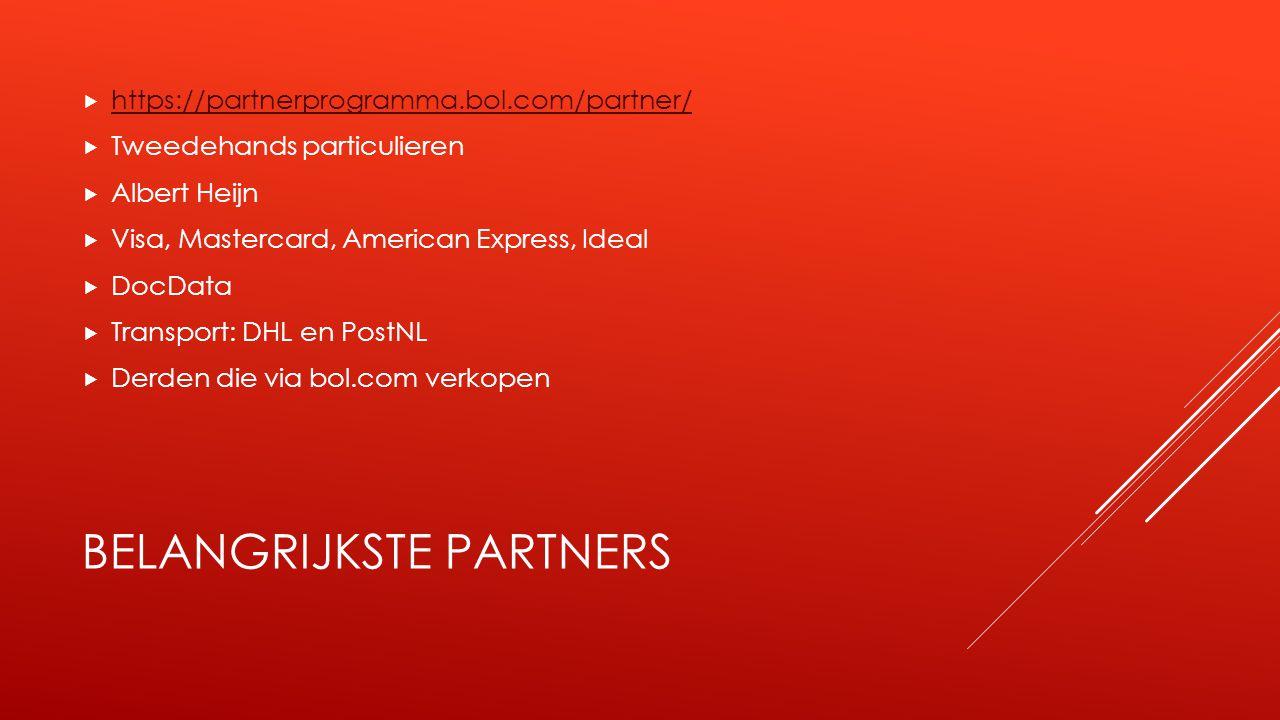 BELANGRIJKSTE PARTNERS  https://partnerprogramma.bol.com/partner/ https://partnerprogramma.bol.com/partner/  Tweedehands particulieren  Albert Heij