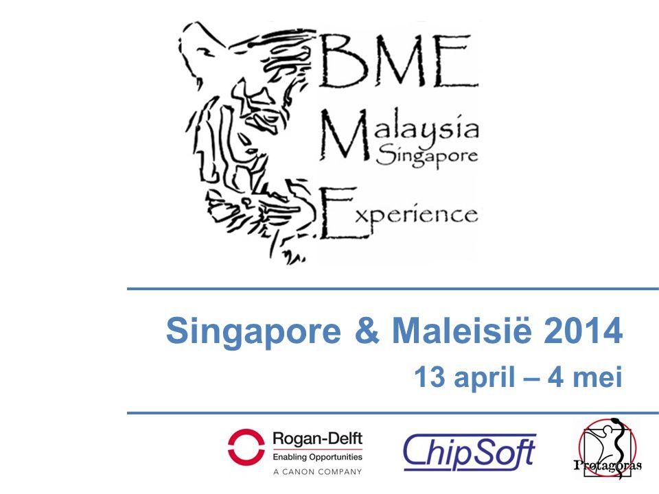 Singapore & Maleisië 2014 13 april – 4 mei
