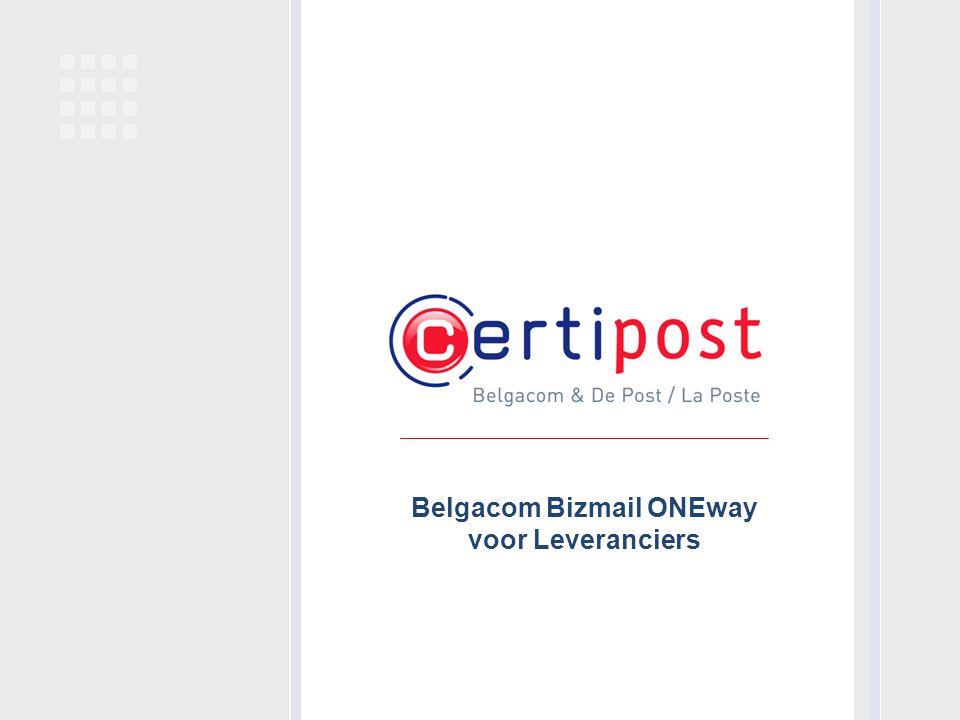 Belgacom Bizmail ONEway voor Leveranciers