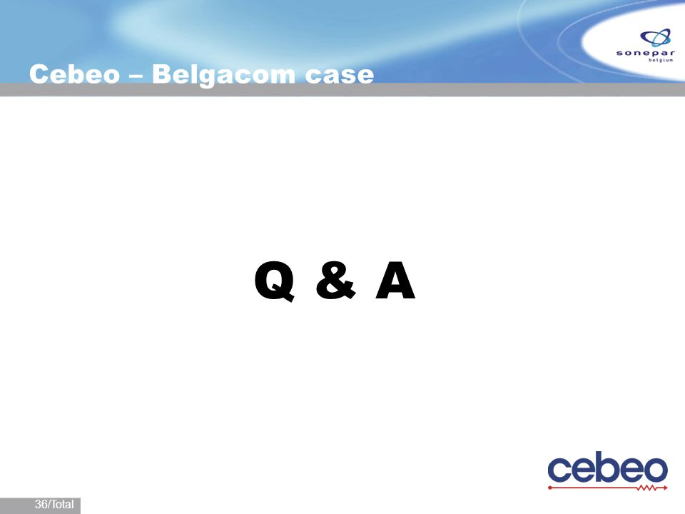 36/Total Cebeo – Belgacom case Q & A