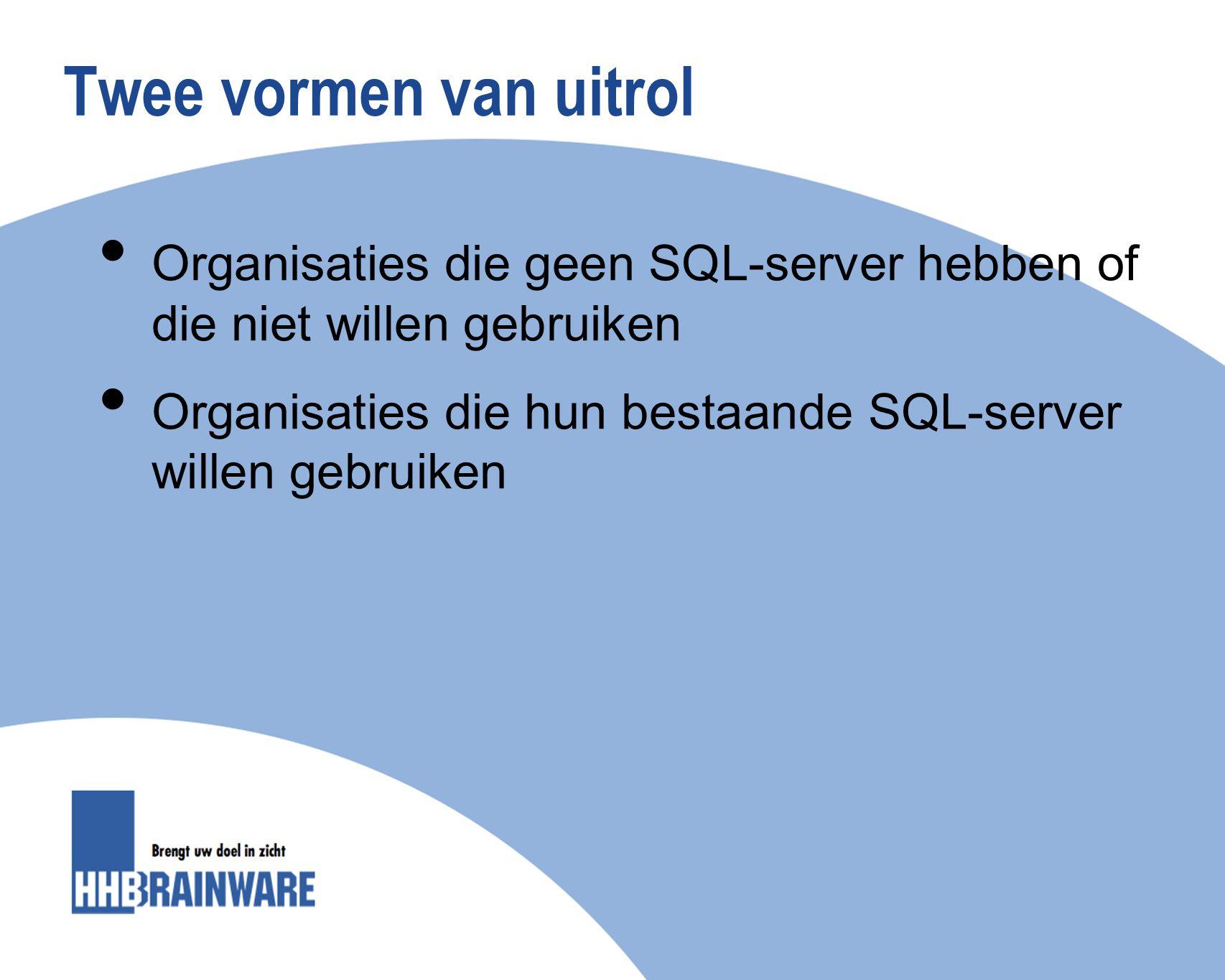 Wat houdt de uitrol in Update van Kocon met daarin … Een gratis versie van MS SQL-server* Express en daarbij … De automatische omzetting van bestanden van de oude naar de nieuwe database *Dit geldt niet voor organisaties die hun bestaande SQL-server willen gebruiken