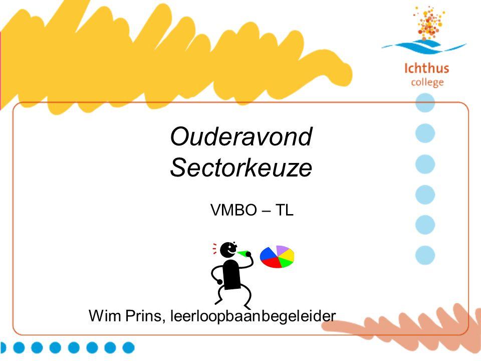 Ouderavond Sectorkeuze VMBO – TL Wim Prins, leerloopbaanbegeleider