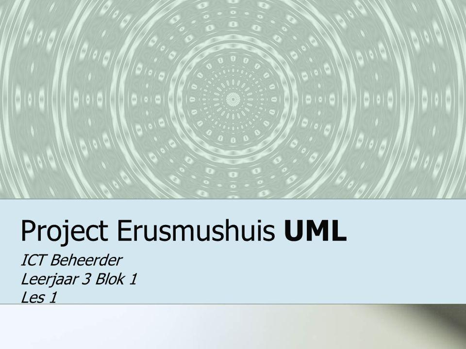Project Erusmushuis UML ICT Beheerder Leerjaar 3 Blok 1 Les 1