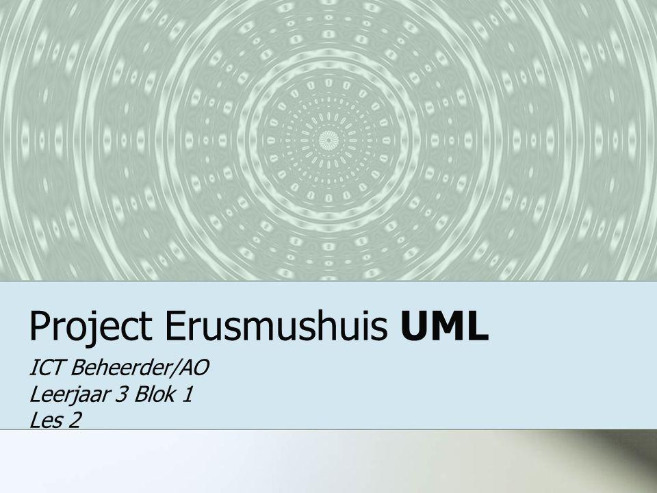 Project Erusmushuis UML ICT Beheerder/AO Leerjaar 3 Blok 1 Les 2