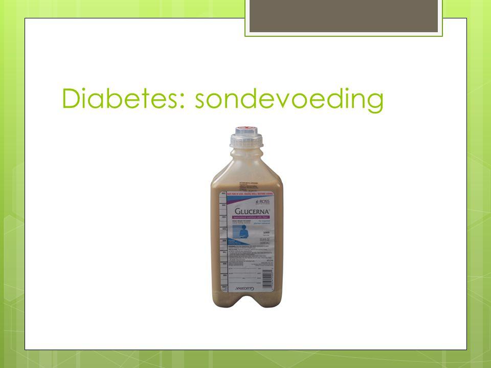 Diabetes: sondevoeding