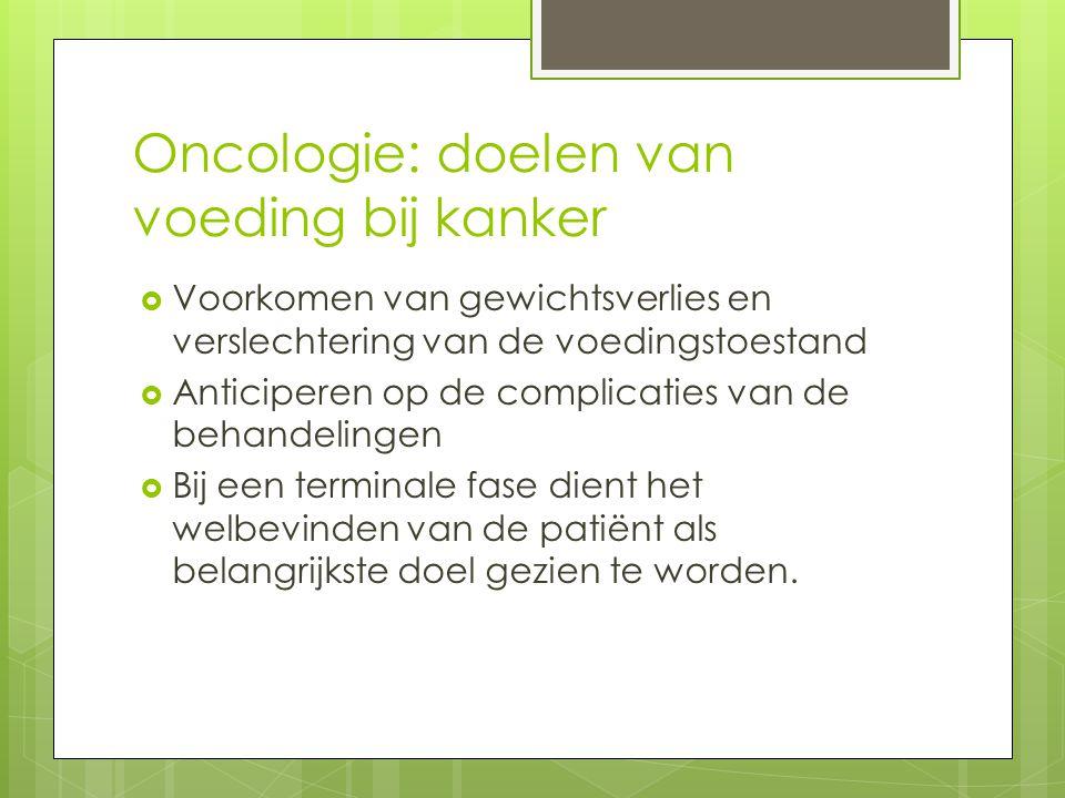 Oncologie: drinkvoeding