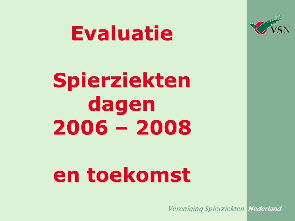 Vereniging Spierziekten Nederland Evaluatie Spierziekten dagen 2006 – 2008 en toekomst