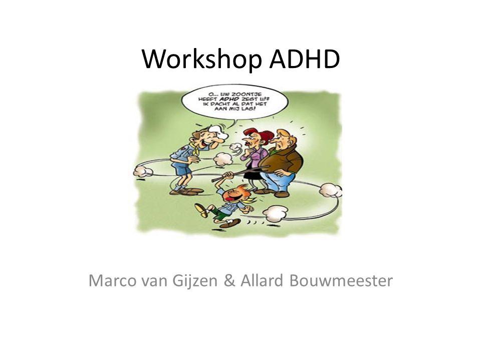 Workshop ADHD Marco van Gijzen & Allard Bouwmeester