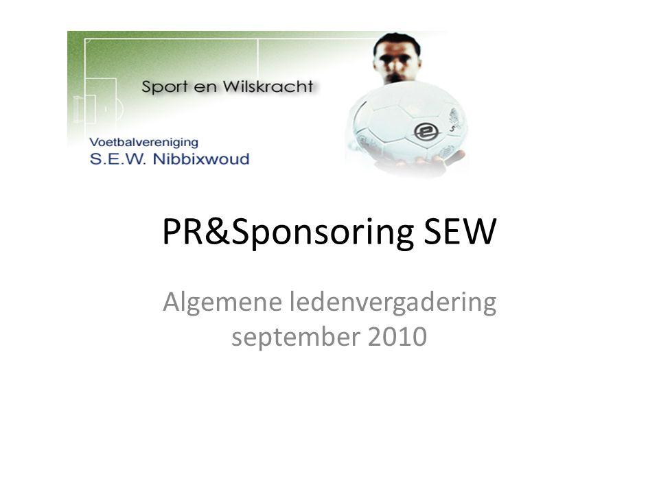 PR&Sponsoring SEW Algemene ledenvergadering september 2010