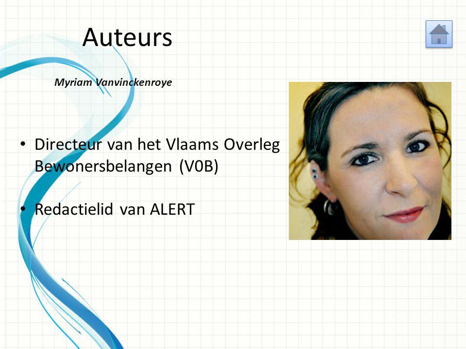Auteurs Geert Inslegers Sectorcoördinator voor de Vlaamse huurdersbonden bij het Vlaams Overleg Bewonersbelangen (V0B) Redactielid van ALERT