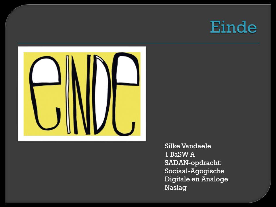 Silke Vandaele 1 BaSW A SADAN-opdracht: Sociaal-Agogische Digitale en Analoge Naslag