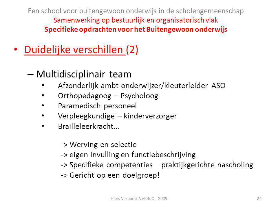 Een school voor buitengewoon onderwijs in de scholengemeenschap Samenwerking op bestuurlijk en organisatorisch vlak Specifieke opdrachten voor het Bui