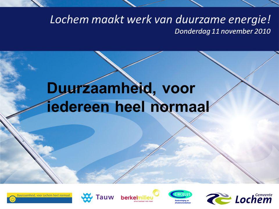 Lochem maakt werk van duurzame energie.