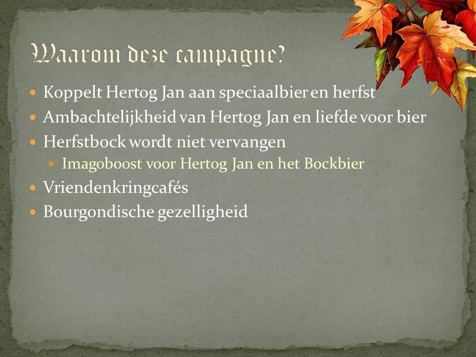 Koppelt Hertog Jan aan speciaalbier en herfst Ambachtelijkheid van Hertog Jan en liefde voor bier Herfstbock wordt niet vervangen Imagoboost voor Hert