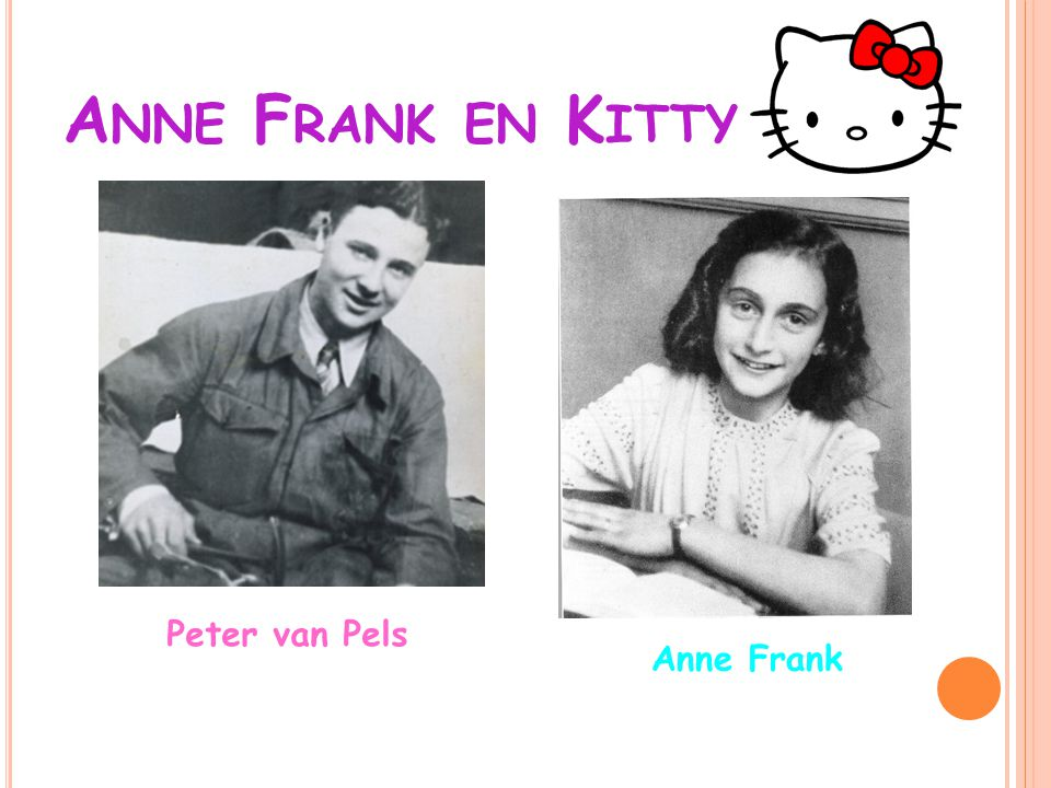 A NNE F RANK EN K ITTY Peter van Pels Anne Frank