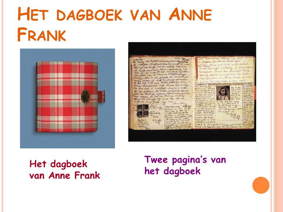 H ET DAGBOEK VAN A NNE F RANK Het dagboek van Anne Frank Twee pagina's van het dagboek