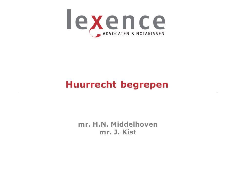 Huurrecht begrepen mr. H.N. Middelhoven mr. J. Kist