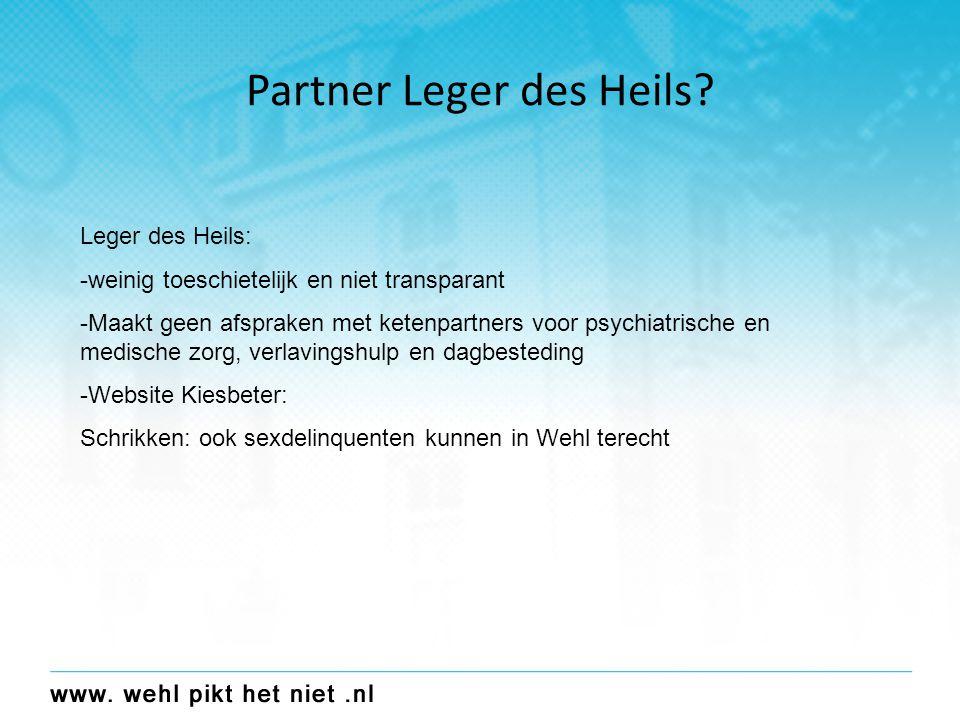 Partner Het Leger des Heils.