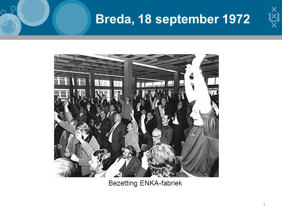 Breda, 18 september 1972 6 Bezetting ENKA-fabriek