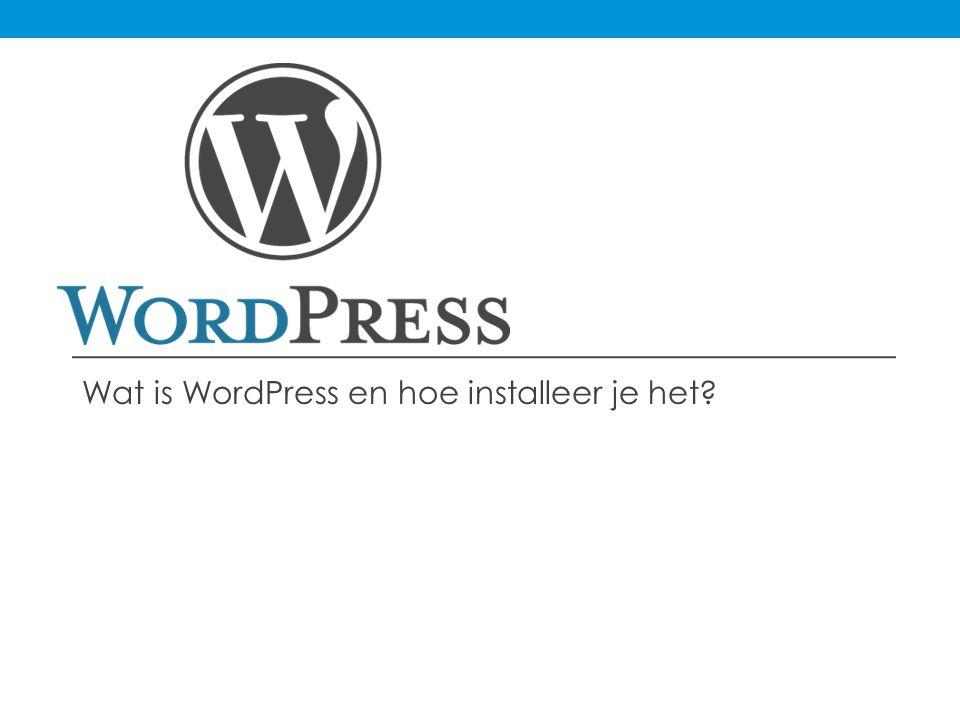 Wat is WordPress.