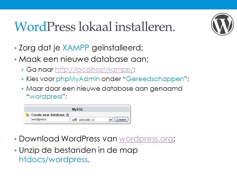 WordPress lokaal installeren.