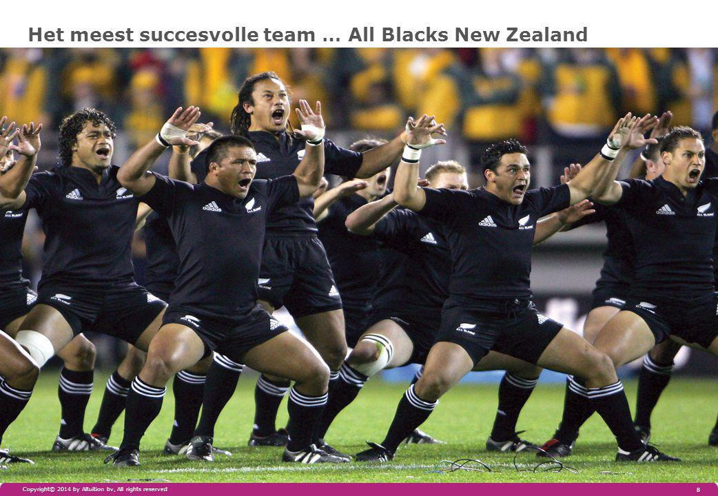 Het meest succesvolle team … All Blacks New Zealand Copyright© 2014 by Altuïtion bv, All rights reserved 8