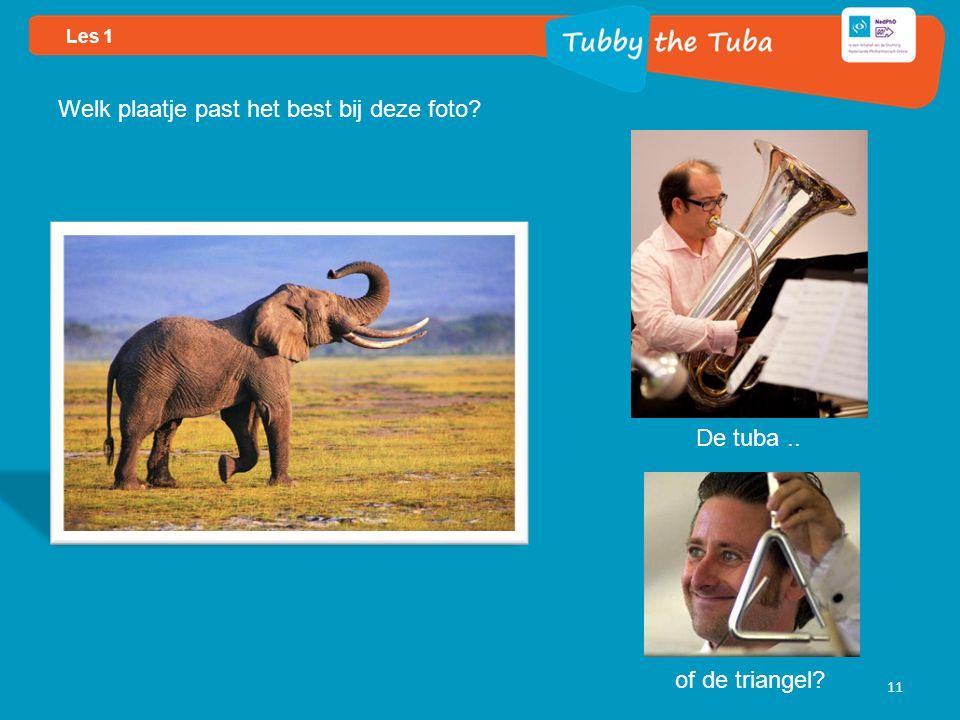 Les 1 11 Welk plaatje past het best bij deze foto De tuba.. of de triangel