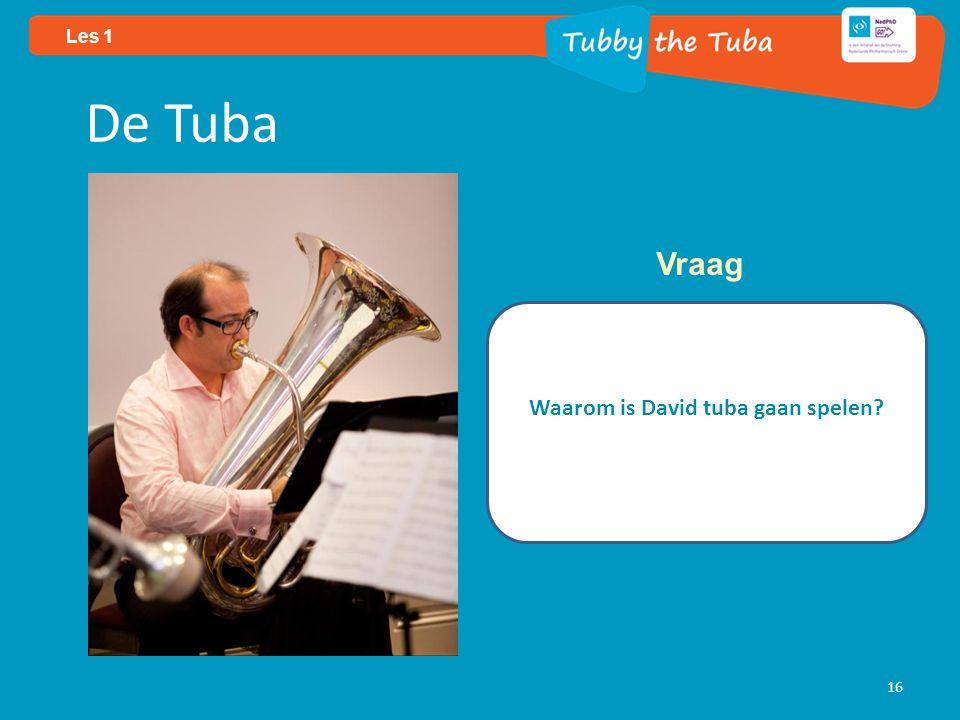 Les 1 16 De Tuba Waarom is David tuba gaan spelen Vraag