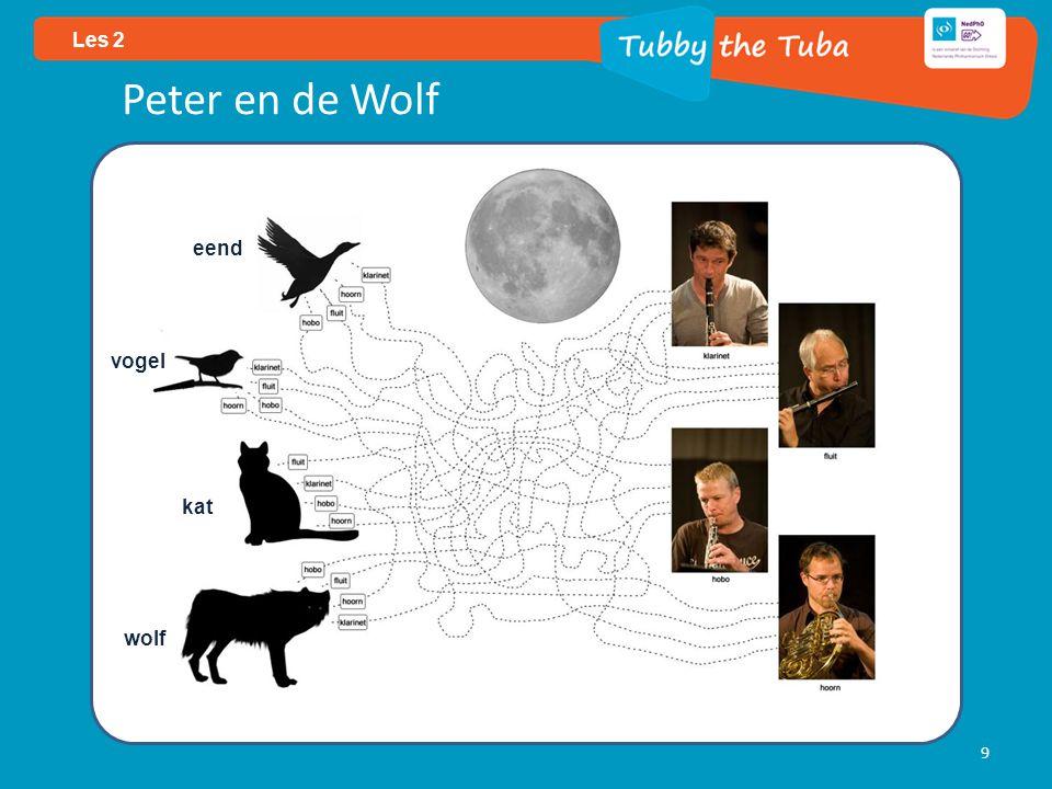 9 Les 2 Peter en de Wolf eend vogel kat wolf