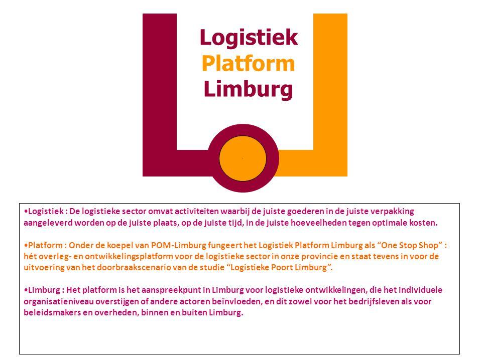 Logistiek : De logistieke sector omvat activiteiten waarbij de juiste goederen in de juiste verpakking aangeleverd worden op de juiste plaats, op de j