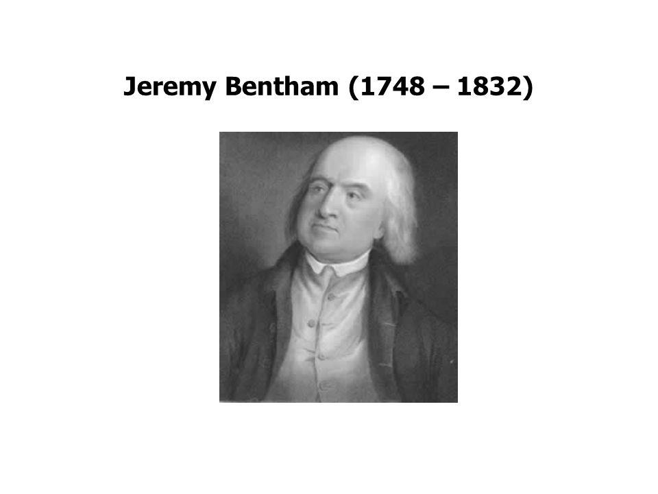 Bentham Utiliteitsprincipe: grootste geluk voor het grootste aantal mensen.