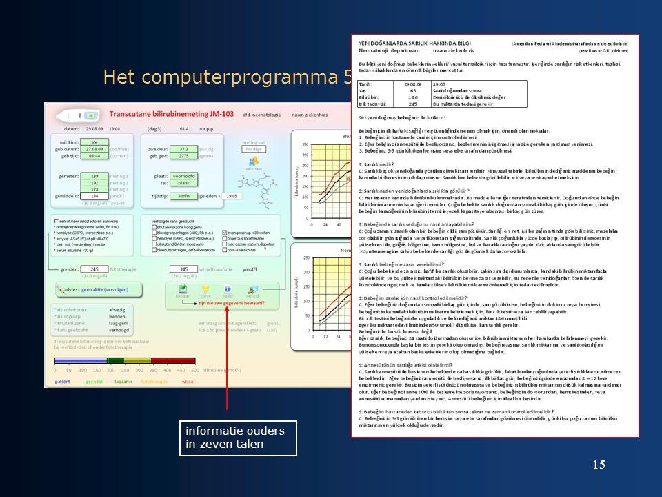 15 Het computerprogramma 5 informatie ouders in zeven talen
