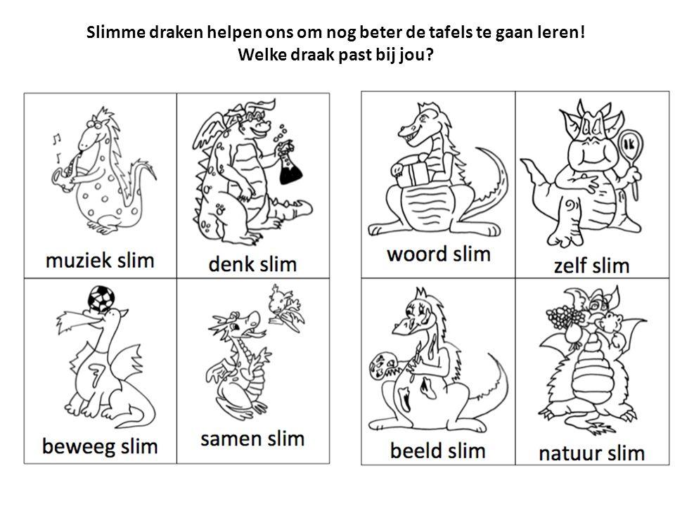 Slimme draken helpen ons om nog beter de tafels te gaan leren! Welke draak past bij jou?