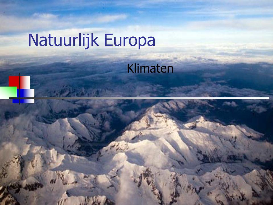 Welke klimaten heeft Europa.