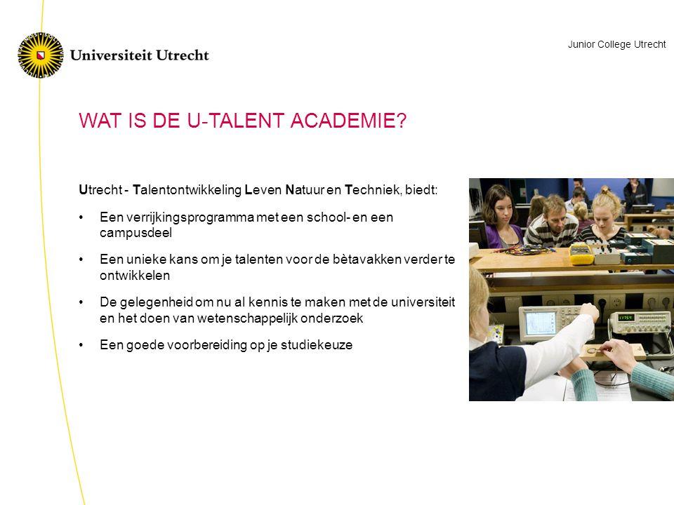 Utrecht - Talentontwikkeling Leven Natuur en Techniek, biedt: Een verrijkingsprogramma met een school- en een campusdeel Een unieke kans om je talente