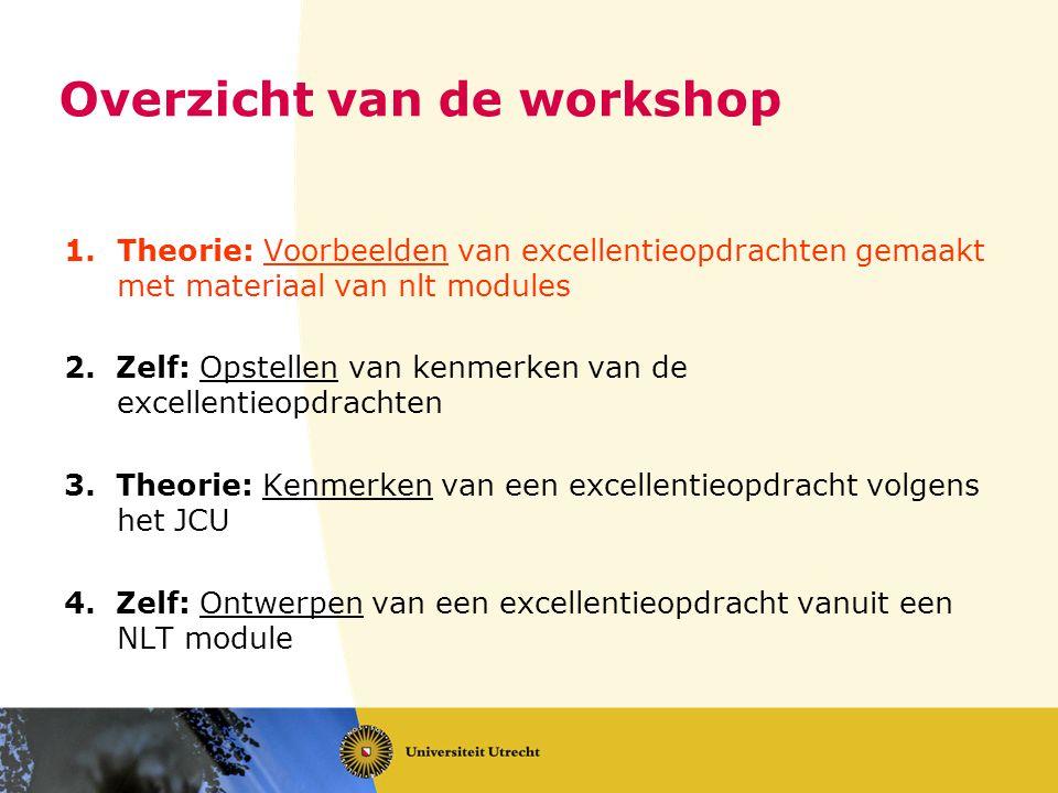 Excellentie opdrachten maken met behulp van nlt modules www.betadifferentiatie.nl