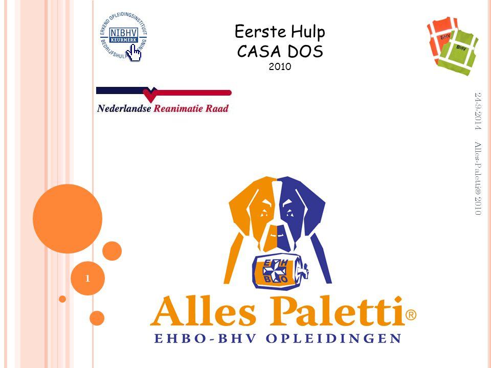 B OTBREUKEN Eerste Hulp: Rust en steun geven:  OnderarmMitella  BovenarmBrede das  Benen Dekenrol 12 24-9-2014 Alles-Paletti® 2010