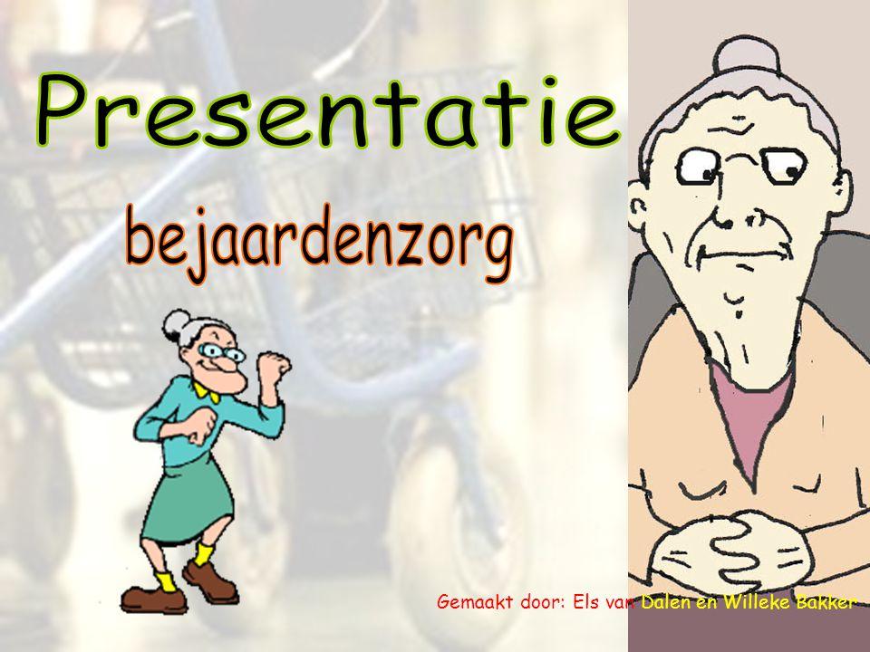 - Negatief beeld voor ouderen.- Bejaardenzorg is één van de eerste dienstverleningen.