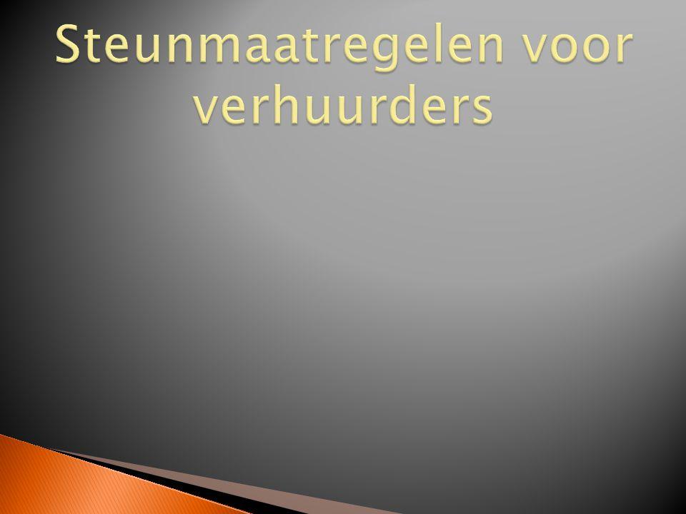  Vlaamse verbeteringspremie  Vlaamse renovatiepremie  Vanaf 2014: Vlaams huurgarantiefonds (enkel private huurmarkt)