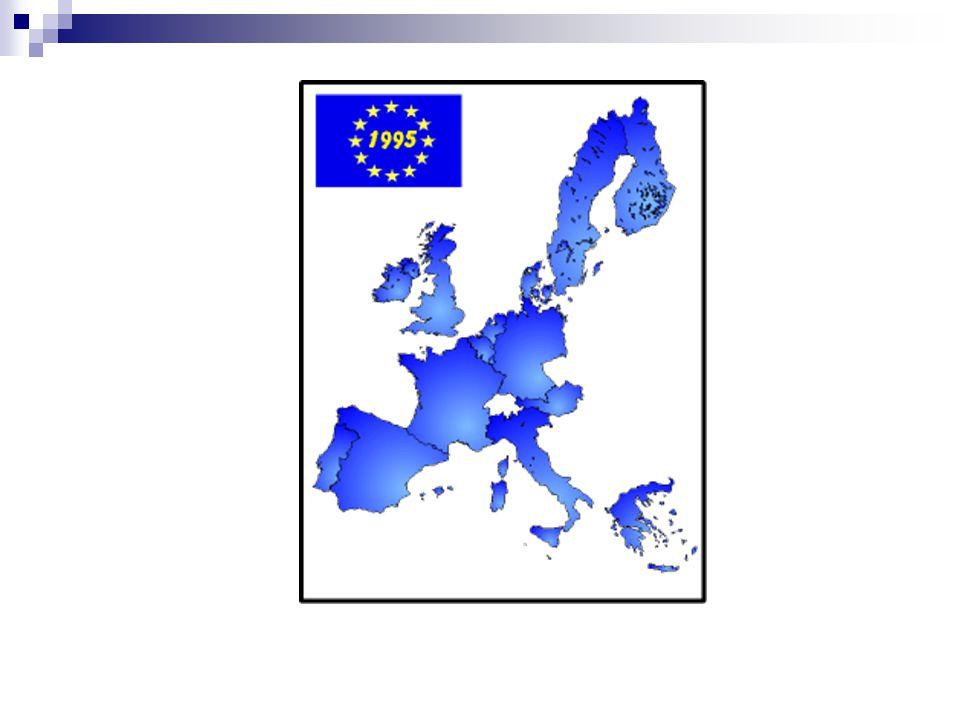 Fase 4 : De Economische en Monetaire Unie 1 /01/1999 : de Euro (12 van de 15 landen : Denemarken, Zweden, Verenigd Koninkrijk niet) 2002 : euro vervangt de nationale munt