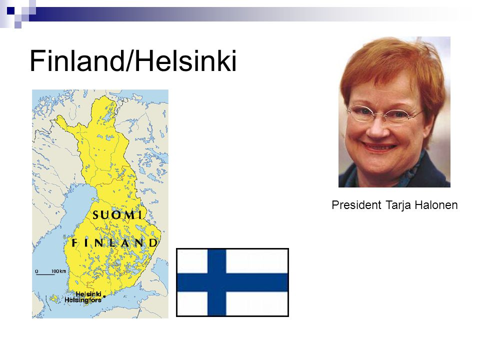 Finland/Helsinki President Tarja Halonen