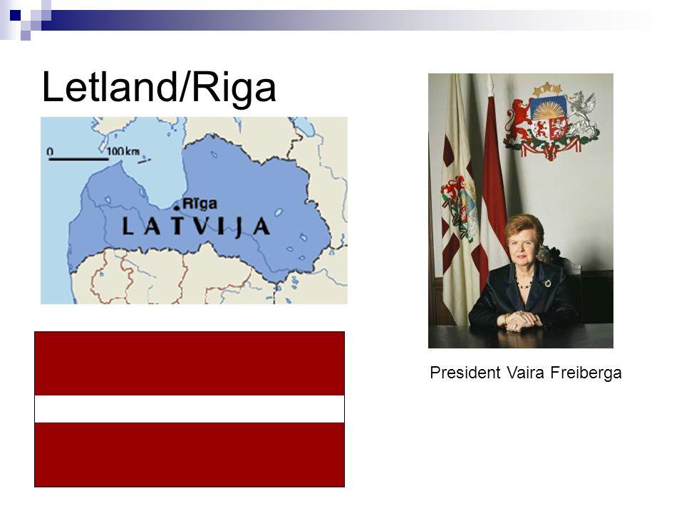 Letland/Riga President Vaira Freiberga
