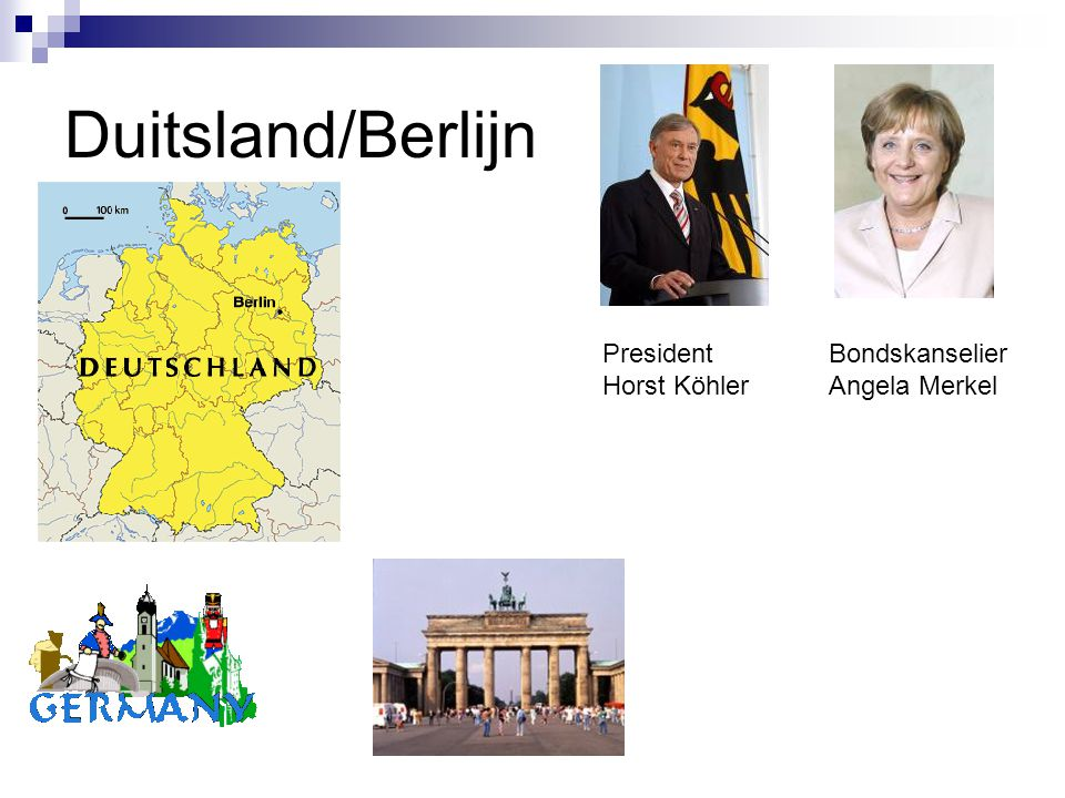 Duitsland/Berlijn President Horst Köhler Bondskanselier Angela Merkel