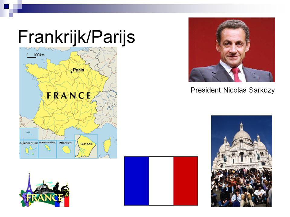 Frankrijk/Parijs President Nicolas Sarkozy