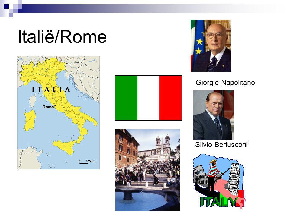 Italië/Rome Giorgio Napolitano Silvio Berlusconi